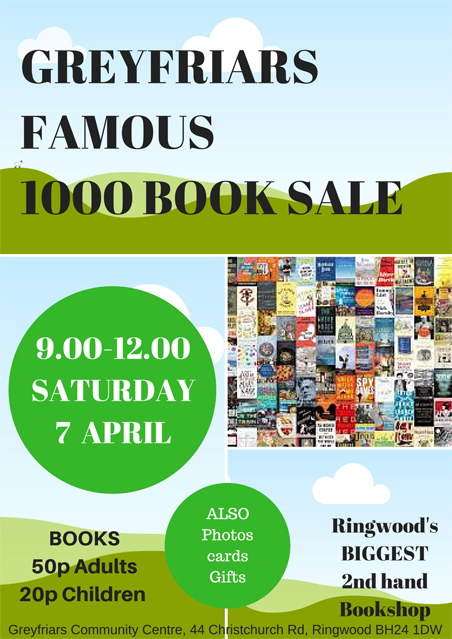 Wyn's Book Shop 1000 Books Sale – Sat 7 Apr, 9am to noon