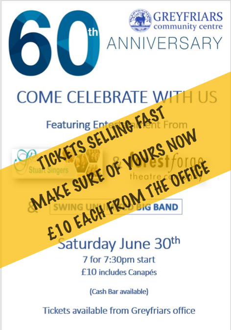 Greyfriars 60th Anniversary – Come Celebrate with us