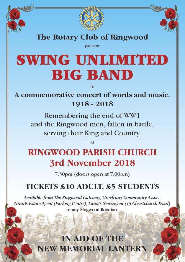 Rotary Club of Ringwood presents Swing Unlimited Big Band.